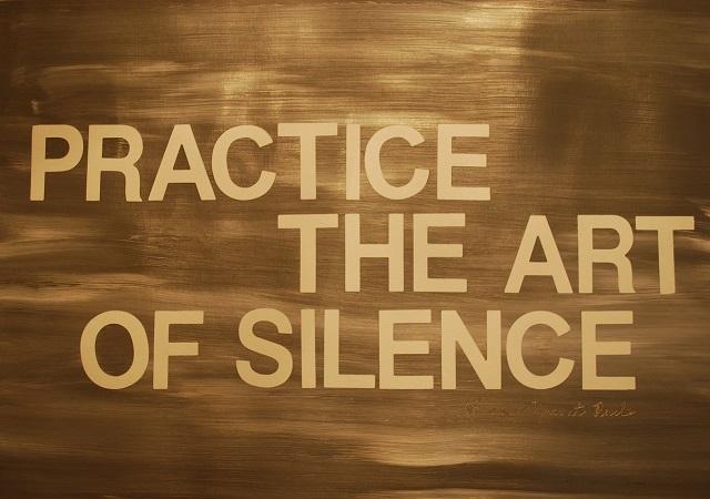 beoefen stilte en bewustzijn