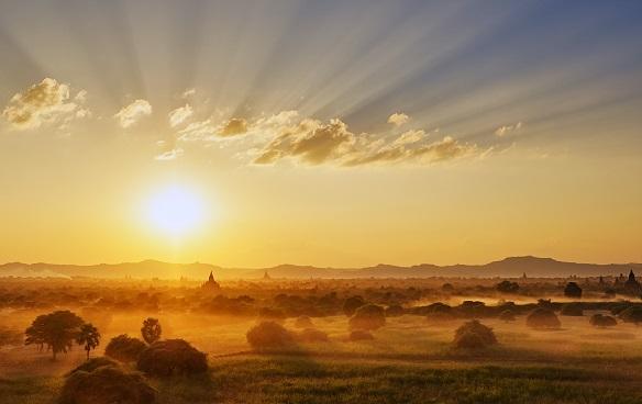 zonnestralen als een teken van God