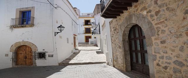 de oude stad van Ibiza
