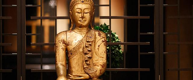 wees stil als een boeddha